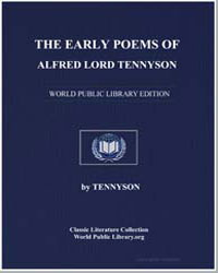 The Early Poems of Alfred Lord Tennyson by Tennyson, Alfred, 1St Baron Tennyson, Lord