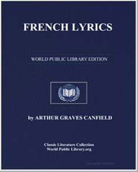 French Lyrics by Canfield, Arthur Graves