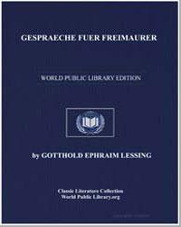 Gespraeche Fuer Freimaurer by Lessing, Gotthold Ephraim