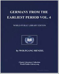 Germany from the Earliest Period Vol. 4 by Menzel, Wolfgang