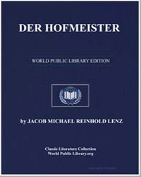 Der Hofmeister by Lenz, Jacob Michael Reinhold