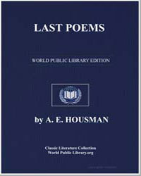 Last Poems by Housman, Alfred Edward
