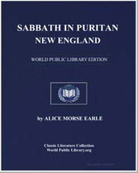 Sabbath in Puritan New England by Earle, Alice Morse