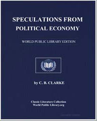Speculations from Political Economy by Clarke, C. B.