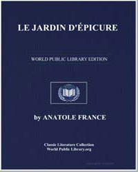 Le Jardin Depicure by France, Anatole