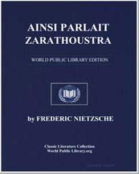 Ainsi Parlait Zarathoustra by Nietzsche, Friedrich Wilhelm