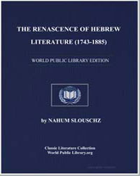 The Renascence of Hebrew Literature (174... by Slouschz, Nahum