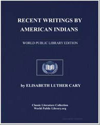 Recent Writings by American Indians by Cary, Elisabeth Luther