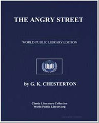 The Angry Street by Chesterton, Gilbert Keith