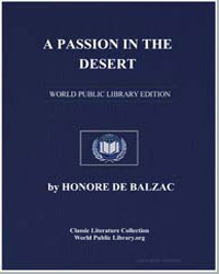 A Passion in the Desert by De Balzac, Honore
