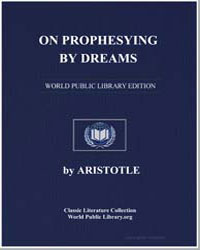 On Prophesying by Dreams by Aristotle