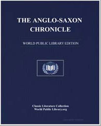 The Anglosaxon Chronicle by