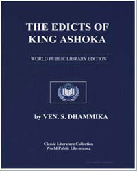 The Edicts of King Ashoka by Dhammika, Ven. S.