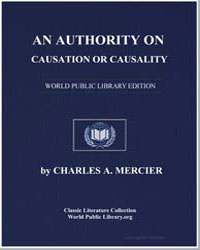 An Authority on Causation or Causality by Mercier, Charles A.