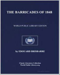 The Barricades of 1848 by Brisbarre, Édouard
