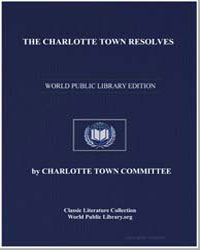 The Charlotte Town Resolves by