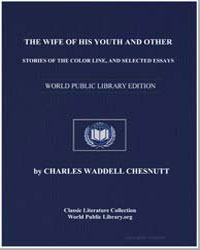 The Wife of His Youth and Other Stories ... by Chesnutt, Charles Waddell