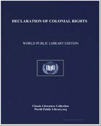 Declaration of Colonial Rights : Resolut... by