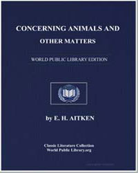 Concerning Animals and Other Matters by Aitken, Edward Hamilton