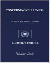 Concerning Cheapness by Carroll, Charles