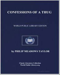 Confessions of a Thug by Taylor, Philip Meadows