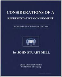 Considerations of a Representative Gover... by Mill, John Stuart