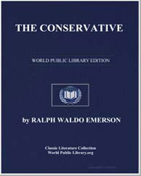 The Conservative by Emerson, Ralph Waldo