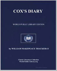 Cox's Diary by Thackeray, William Makepeace