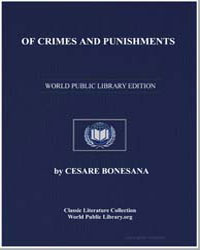 Of Crimes and Punishments by Bonesana, Cesare