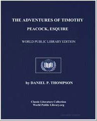 The Adventures of Timothy Peacock, Esqui... by Thompson, Daniel Pierce