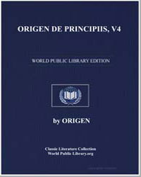 Origen de Principiis, V4 by Adamantius, Origen