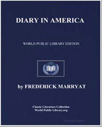 Diary in America by Marryat, Frederick, Captain