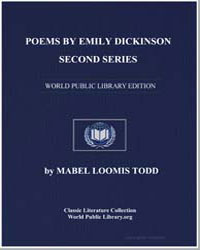 Poems by Emily Dickinson Second Series by Todd, Mabel Loomis