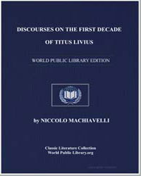 Discourses on the First Decade of Titus ... by Machiavelli, Niccolò