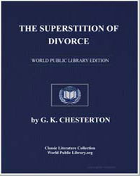The Superstition of Divorce by Chesterton, Gilbert Keith