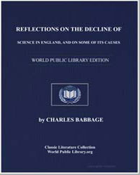 Reflections on the Decline of Science in... by Babbage, Charles