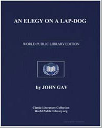 An Elegy on a Lapdog by Gay, John