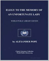 Elegy to the Memory of an Unfortunate La... by Pope, Alexander