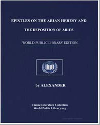 Epistles on the Arian Heresy and the Dep... by