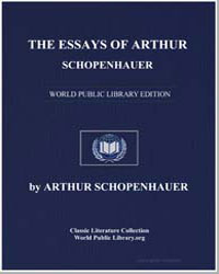 The Essays of Arthur Schopenhauer by Schopenhauer, Arthur