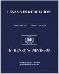 Essays in Rebellion by Nevinson, Henry W.