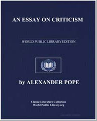 An Essay on Criticism by Pope, Alexander