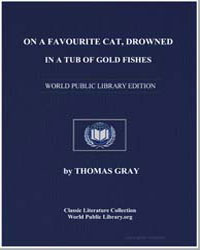 On a Favourite Cat, Drowned in a Tub of ... by Gray, Thomas