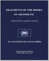 Fragments of the Books on Arithmetic by