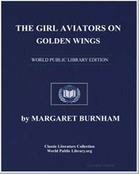 The Girl Aviators on Golden Wings by Burnham, Margaret