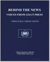 Behind the News : Voices from Goa's Pres... by Hutchinson, Joshua