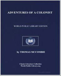 Adventures of a Colonist; Or Godfrey Ara... by Mccombie, Thomas