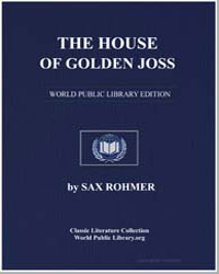 The House of Golden Joss by Rohmer, Sax