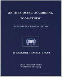 On the Gospel According to Matthew by Thaumaturgus, Gregory