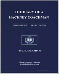 The Diary of a Hackney Coachman by Ingraham, J. H.